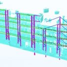 Tekla model built directly on to the existing model to ensure no conflicts, display construction sequence, and capture reality.